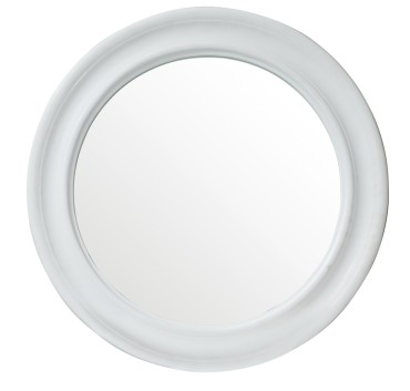 Toronto 27.8 round mirror - bright white solid surface