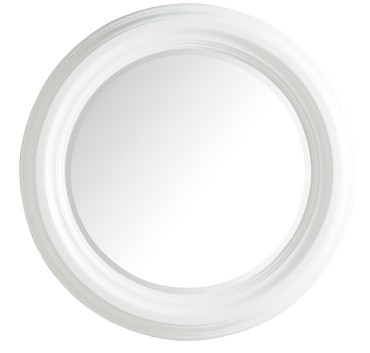 victoria 33 round mirror - cottage white